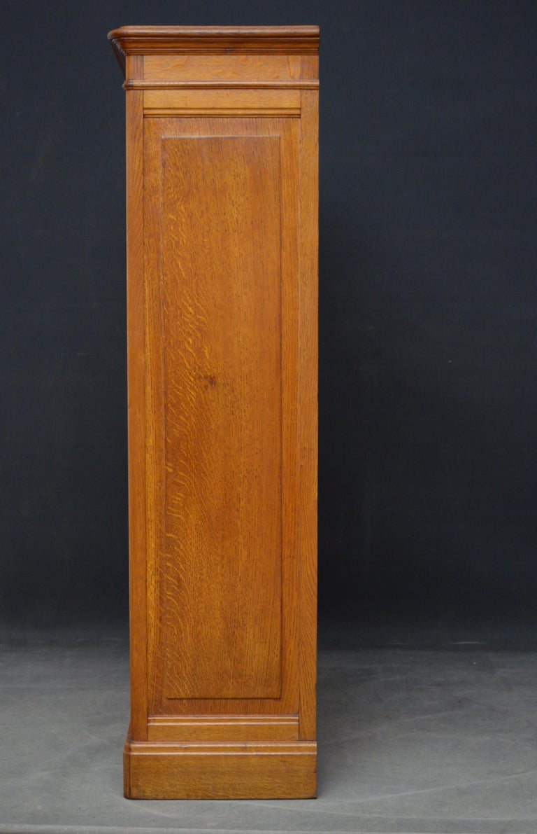 Pair of Oak Open Bookcases For Sale 2