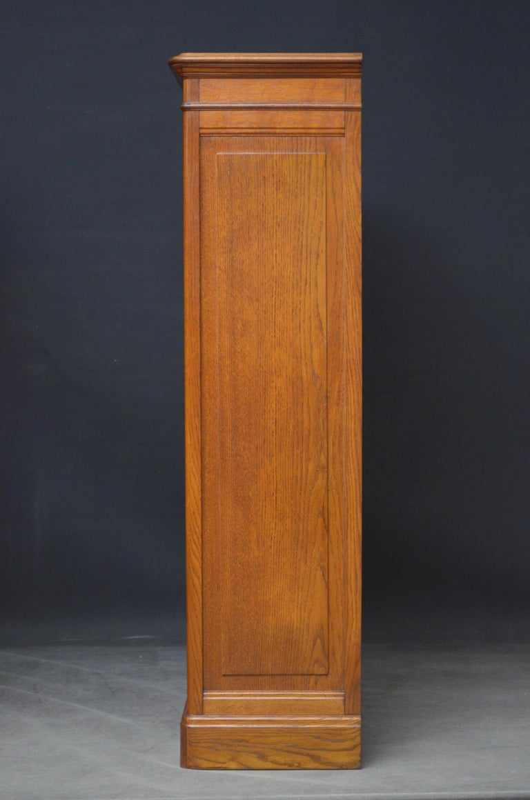 Pair of Oak Open Bookcases For Sale 3