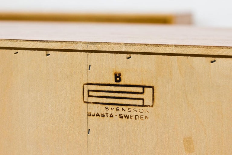 Pair of Oak & Rattan Sideboards by Alf Svensson, Sweden, 1960s 6