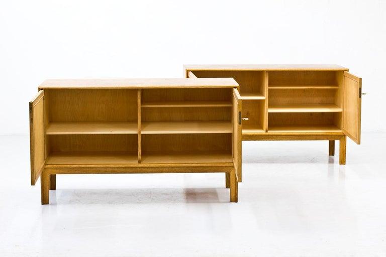 Pair of Oak & Rattan Sideboards by Alf Svensson, Sweden, 1960s In Good Condition In Stockholm, SE
