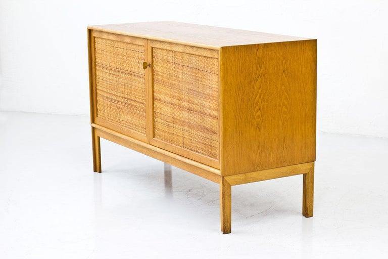 Pair of Oak & Rattan Sideboards by Alf Svensson, Sweden, 1960s 1