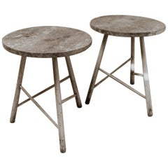 Pair of Oak Side Tables