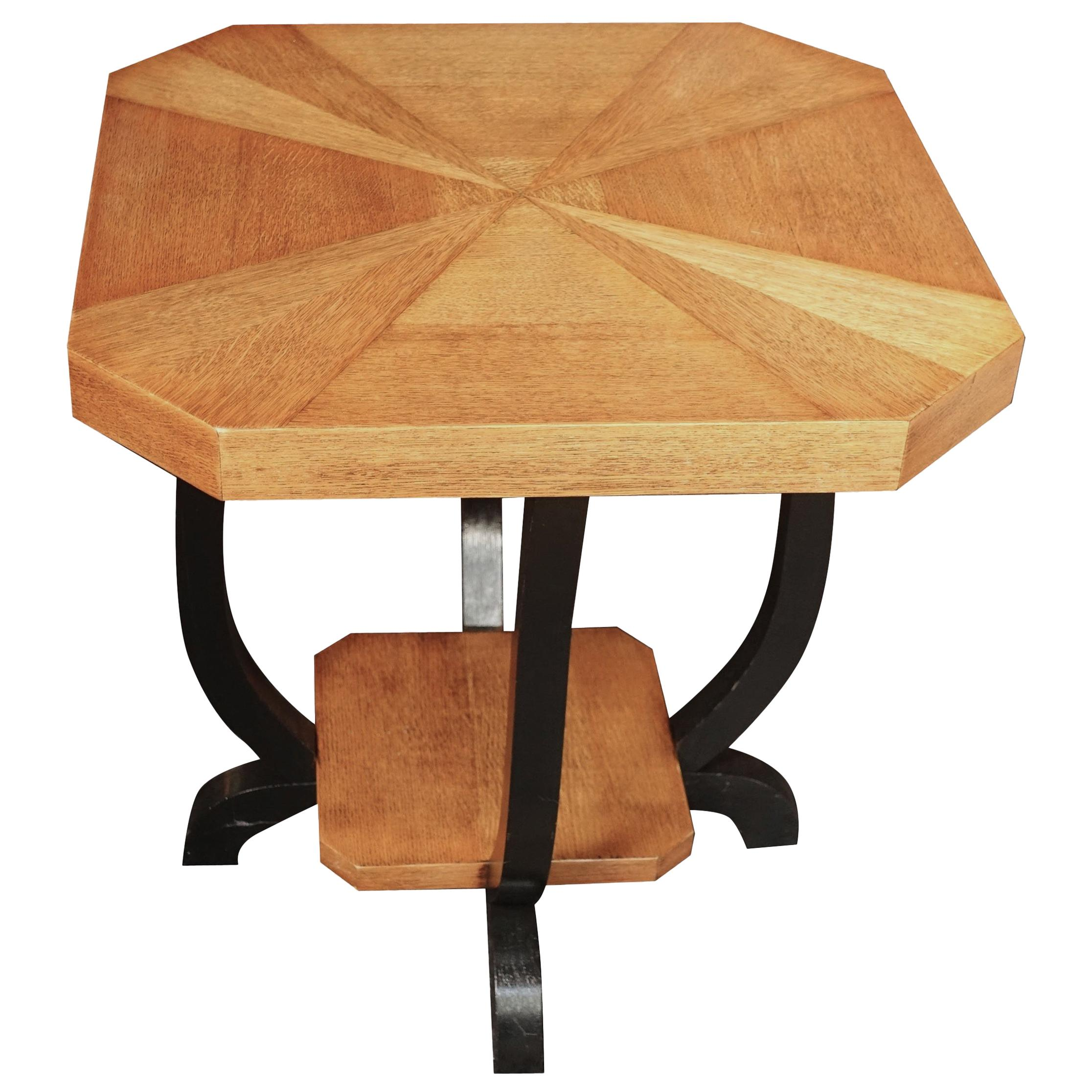 Pair of Octagonal Side Tables, Belgium, Midcentury