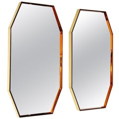 Pair of Octagonal Wall Mirrors #2355 by Fontana Arte