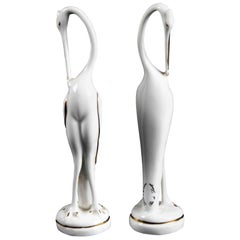 Pair of of Porcelain Flamingos by Limoges, 1970s