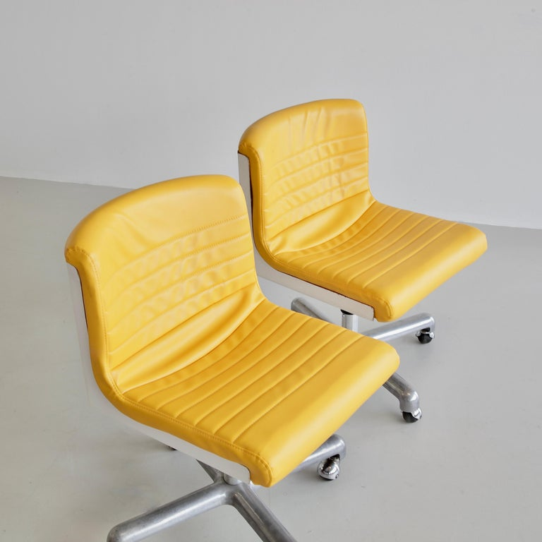 Italian Pair of Office Chairs by Ettore Sottsass & Hans Von Klier, 1969