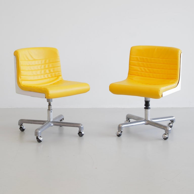 Mid-20th Century Pair of Office Chairs by Ettore Sottsass & Hans Von Klier, 1969