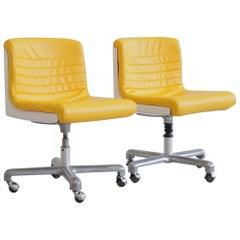 Pair of Office Chairs by Ettore Sottsass & Hans Von Klier, 1969
