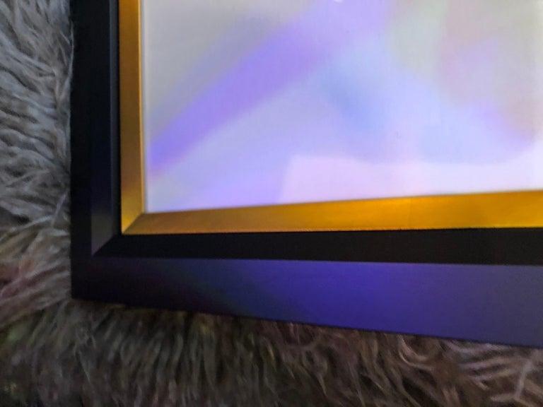 American Pair of Oil on Paper Paintings by Francine Turk For Sale