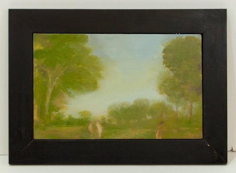 American Pair of Oil Paintings by Walter Us For Sale