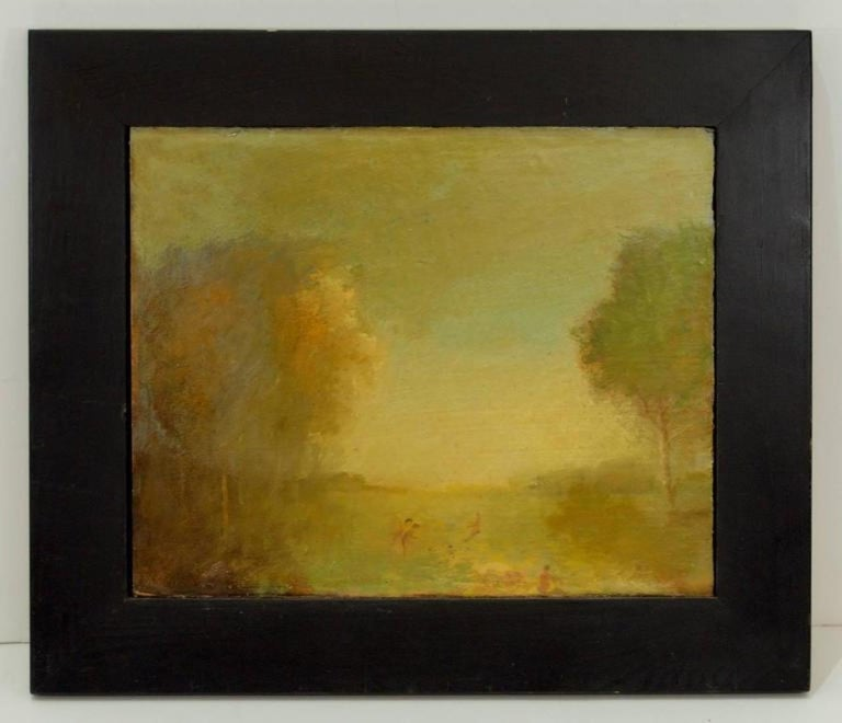 Pair of Oil Paintings by Walter Us In Excellent Condition For Sale In Stamford, CT