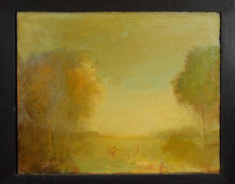Early 20th Century Pair of Oil Paintings by Walter Us For Sale