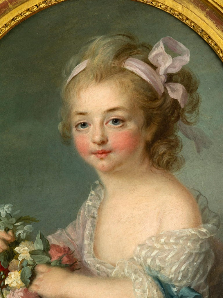 Rococo Pair of Oil Paintings, French School, After François-hubert Drouais For Sale