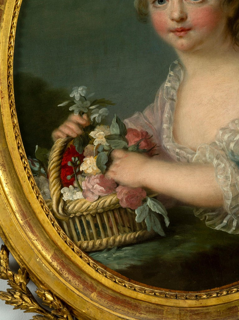 Pair of Oil Paintings, French School, After François-hubert Drouais In Good Condition For Sale In Boston, MA