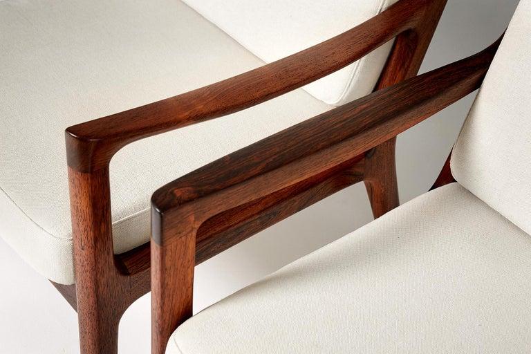 Scandinavian Modern Pair of Ole Wanscher Rosewood Senator Lounge Chairs, 1960 For Sale