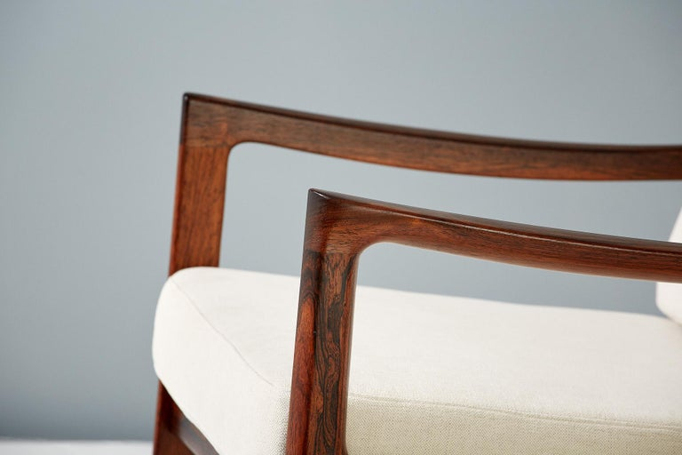 Danish Pair of Ole Wanscher Rosewood Senator Lounge Chairs, 1960 For Sale