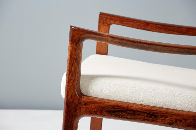 Pair of Ole Wanscher Rosewood Senator Lounge Chairs, 1960 For Sale 1