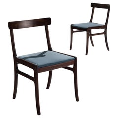 Pair of Ole Wanscher 'Rungstedlund' Dining Chairs in Mahogany