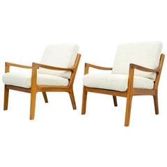 Pair of Ole Wanscher Teak Lounge Chairs Mod 116, Denmark, 1951
