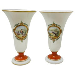 Pair of Opaline Vases, French, circa 1880