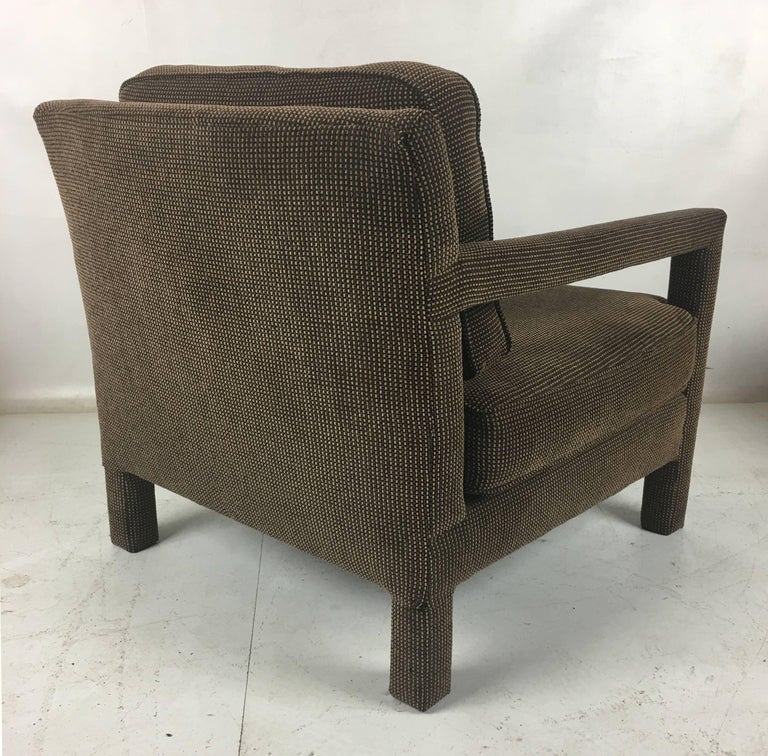American Pair of Open-Arm Parsons Club Chairs by Milo Baughman For Sale