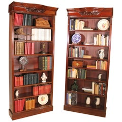 Pair of Open Bookcase Mahogany, 19th Century