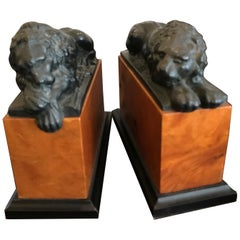 Pair of Opposing Lion Bookends
