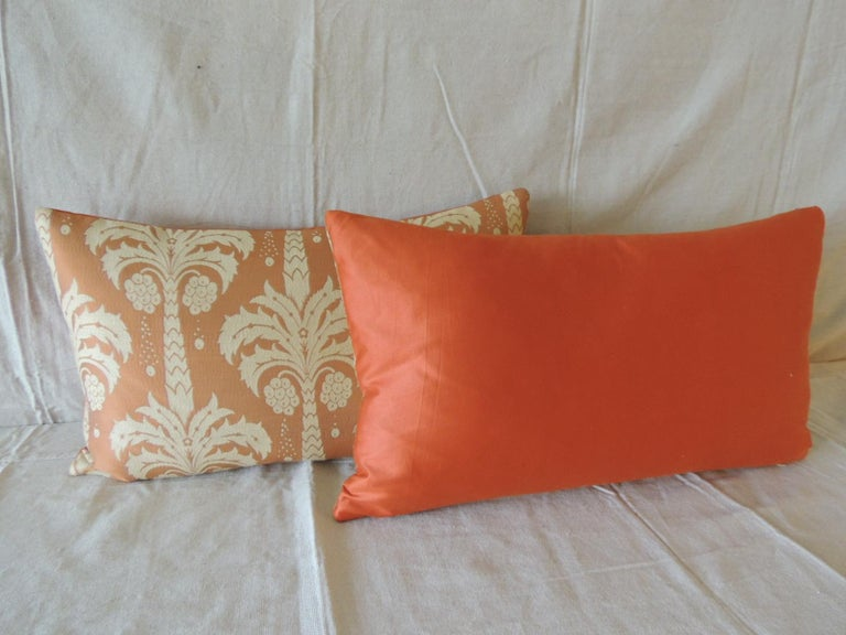 Hand-Crafted Pair of Orange and Natural