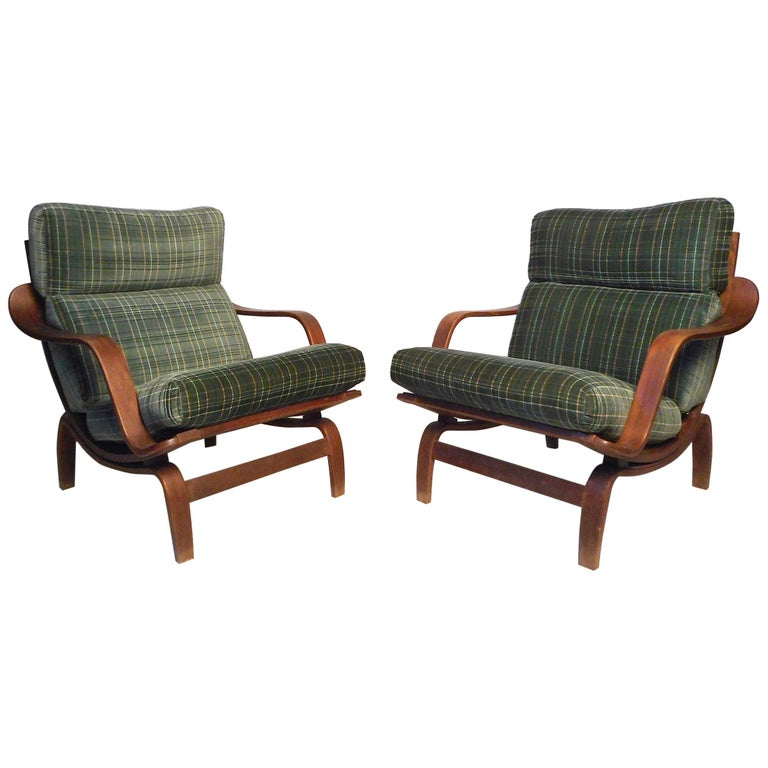 """Pair of """"Orbit"""" Lounge Chairs by Charlton For Sale"""