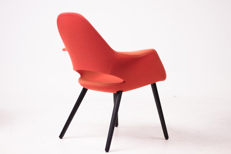 Mid-Century Modern Pair of Organic Chairs by Charles Eames & Eero Saarinen For Sale