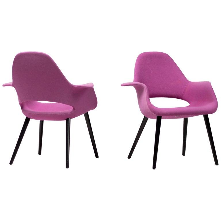 Pair of Organic Chairs by Charles Eames & Eero Saarinen For Sale