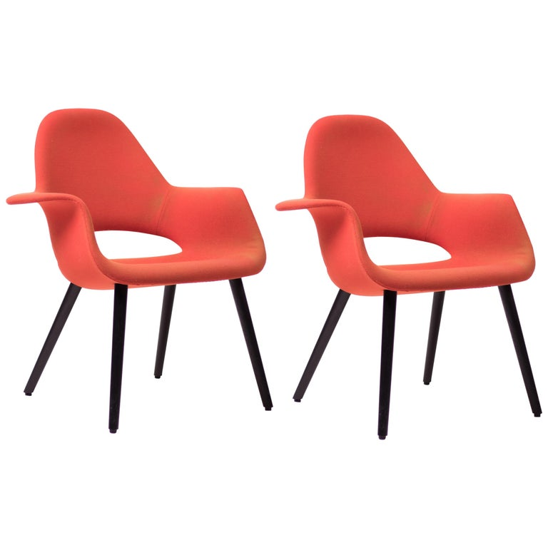 Pair of Organic Chairs by Charles Eames & Eero Saarinen For Sale