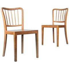 Pair of Organic Wood Chairs