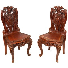 Pair of Oriental Chairs, 19th Century