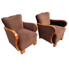 Pair of Original 1930's Art Deco Lounge Chairs