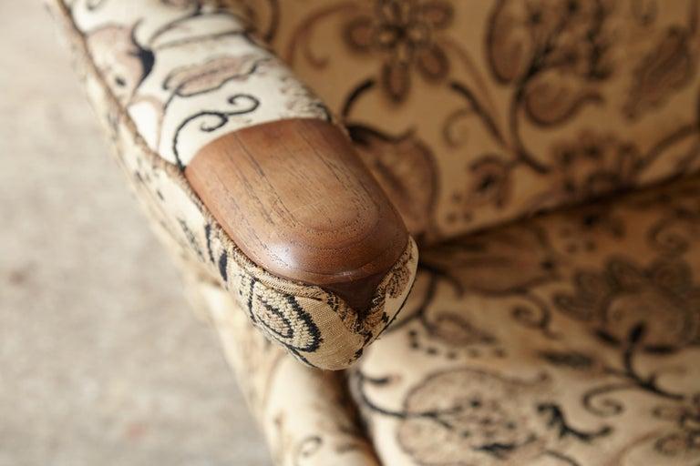 Danish Pair of Original 1950s Hans Wegner Papa Bear Chairs, Incl. Reupholstery in COM For Sale
