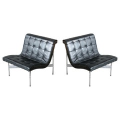 Pair of Original 1950s New York Lounge Chairs by Katavolos, Littell and Kelley