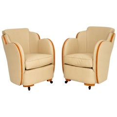 Pair of Original Art Deco Cloud Back Armchairs by Epstein
