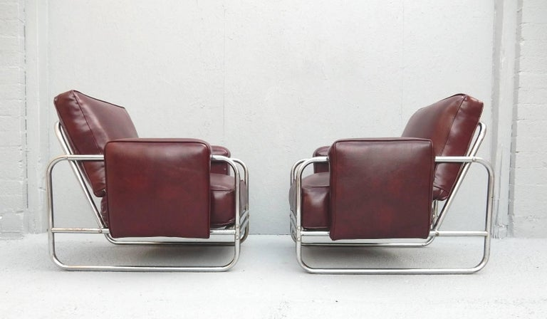 Pair of Original Art Deco Lounge Chairs, 1930s In Good Condition For Sale In Las Vegas, NV