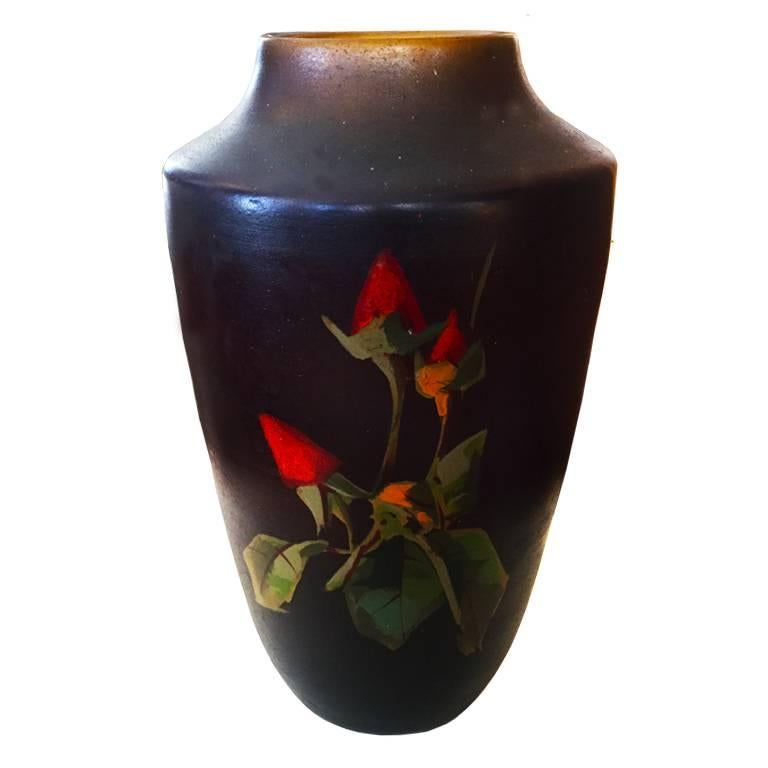 French Pair of Original Art Deco Vases, France, 1930s For Sale
