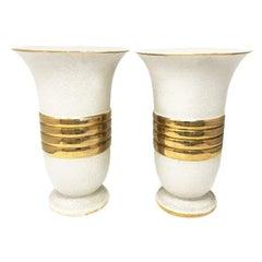 Pair of Original Art Deco Vases, France, 1930s