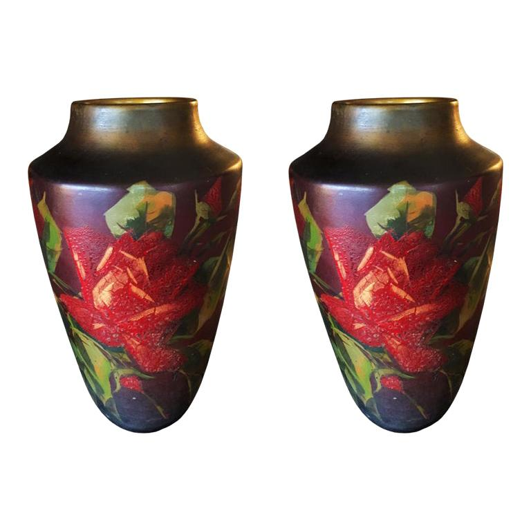 Pair of Original Art Deco Vases, France, 1930s For Sale
