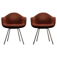 Pair of Original Charles and Ray Eames DAX Shell Chairs by Herman Miller