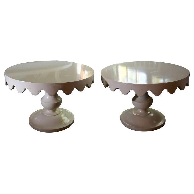 Pair of Original Dorothy Draper Tables For Sale