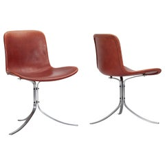 Pair of Original Edition PK 9 Chairs by Poul Kjærholm