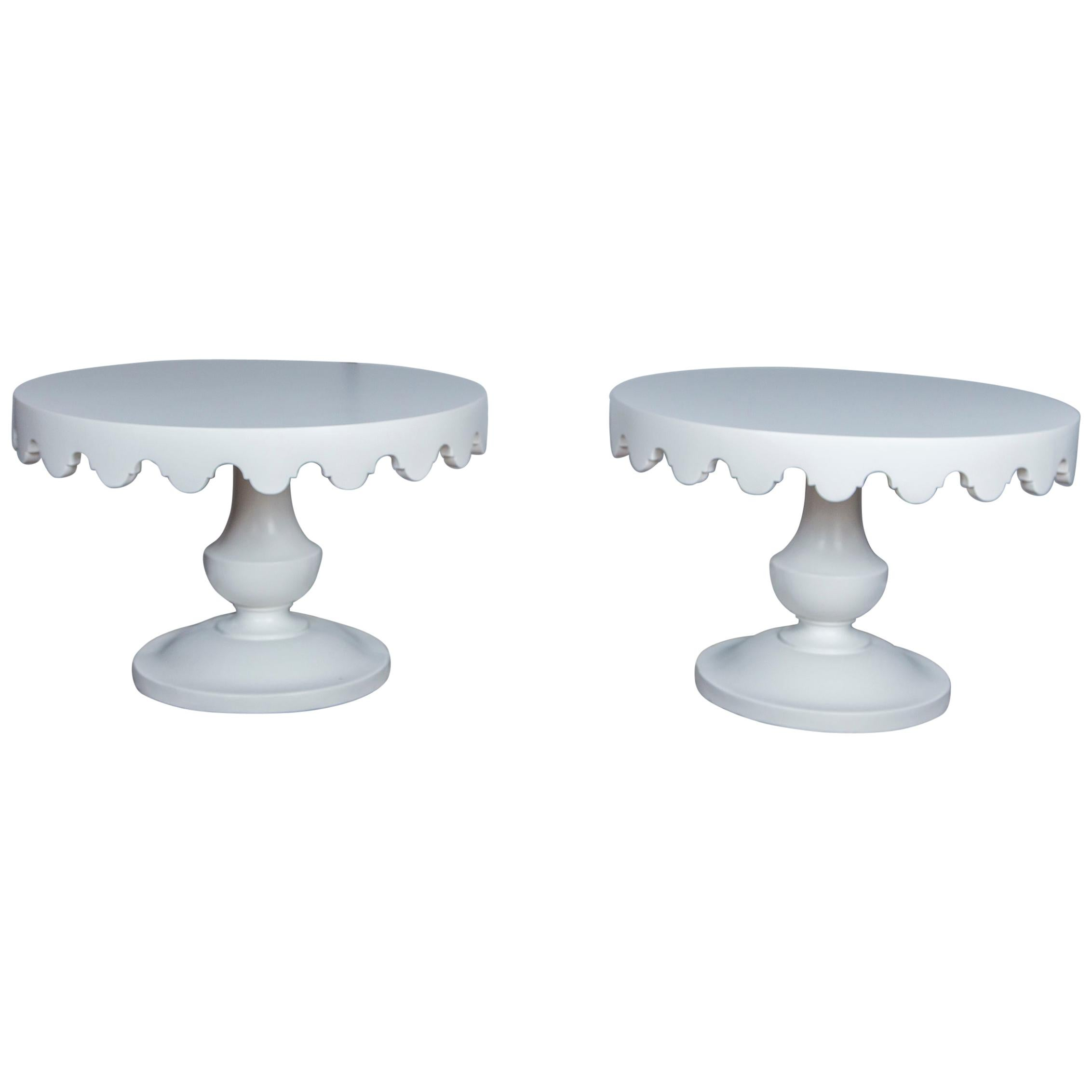 Pair of Original Handmade Dorothy Draper Tables for the Greenbrier Resort