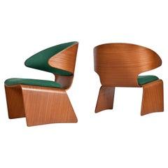 Pair of Original Hans Olsen for Frem Røjle Danish Teak Bikini Chairs