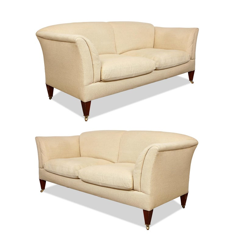 Pair of Original Howard & Sons Sofas In Excellent Condition For Sale In New York, NY