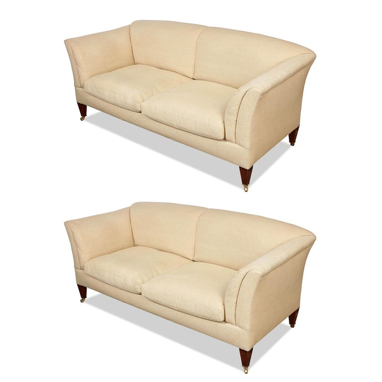 20th Century Pair of Original Howard & Sons Sofas For Sale