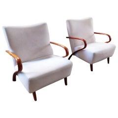 Pair of Original Italian Armchairs, 1950s